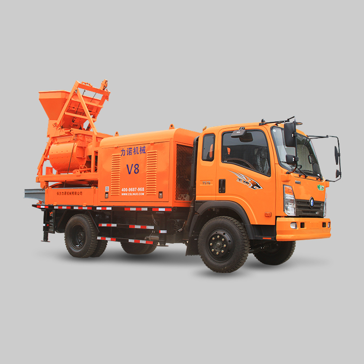 V8 Truck Mounted Forced Concrete Mixer Pump